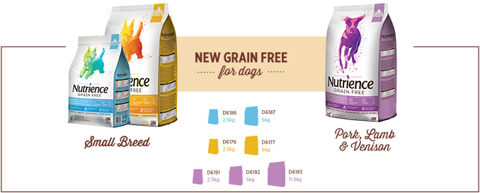 New Grain Free for Dogs - new small dog varieties and Pork, Lamb and Venison