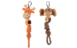 Zeus Mojo Naturals Tennis Rope Tug - Elephant or Giraffe - Assorted