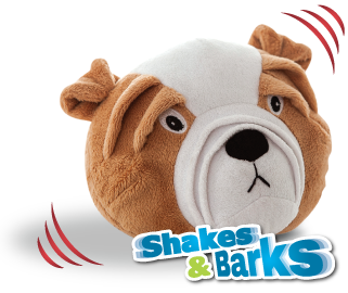 Shakes and barks