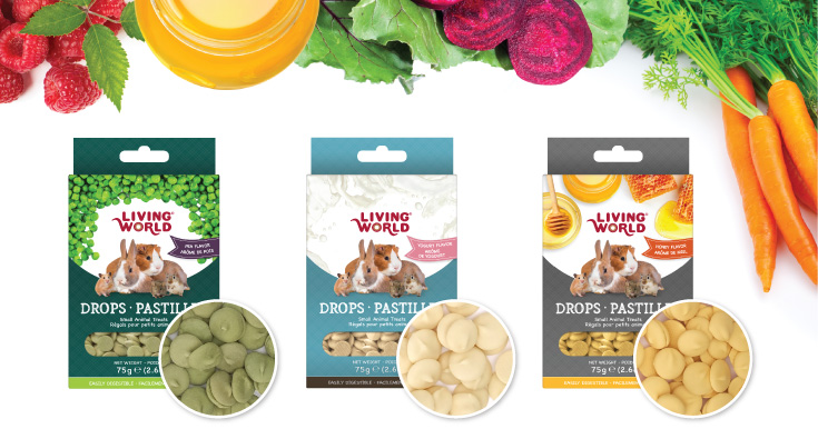 Living World Drops: Small animal treats group one