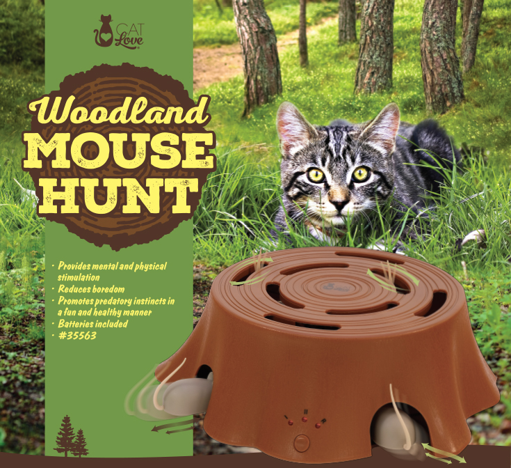 Cat Love Woodland Mouse Hunt