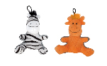Zeus Mojo Brights Sitting Pals - Zebra or Giraffe - Assorted