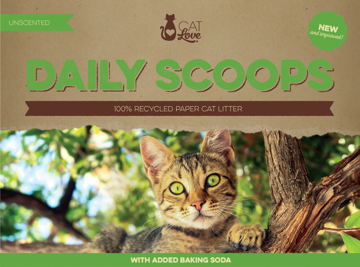 Cat Love Daily Scoops Recycled Paper Cat Litter