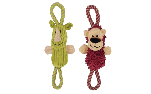 Zeus Mojo Naturals Figure-8 Rope Tug - Lion or Rhino - Assorted