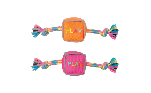 Zeus Mojo Brights Cube Toys - Orange or Pink - Assorted