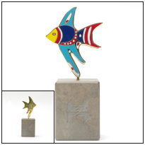 10-Carat, Gold-Plated Angelfish Sculpture, 2007 RCHG2007FISH