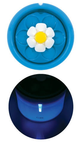 Catit Flower Fountain LED features