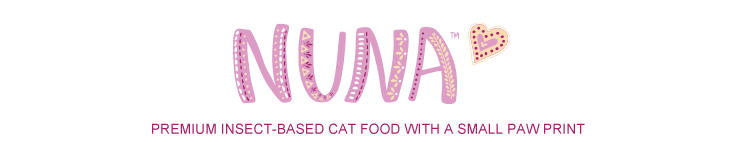 Catit Nuna cat food - Premium insect-based cat food with a small paw print
