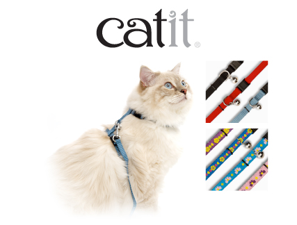 Catit leashes, harnesses, collars and tie out