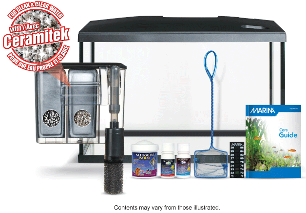 Marina LED Glass Aquarium kit