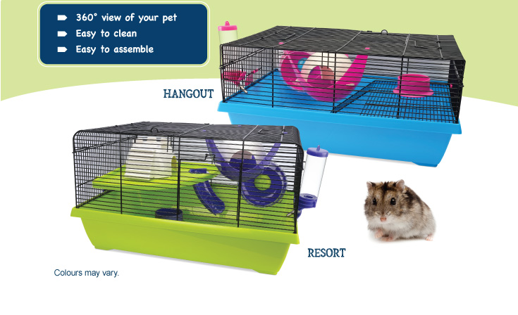 Living World Dwarf Hamster cages - features