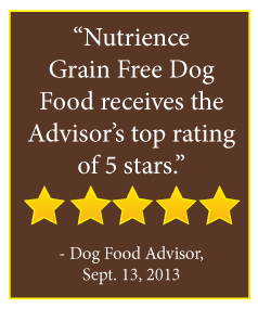 Nutrience Grain Free Dog Food receives the Advisor's top rating of 5 stars.