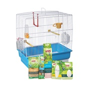 "Living World Budgie Starter Kit - 40 cm L x 25 cm W x 41 cm H (15.75"" x 9.8"" x 16"")"