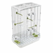 Vision Bird Cage for Medium Birds (M02) - Small Wire - Double Height - 62.5 x 39.5 x 87 cm (24.6 L x 15.6 W x 34.25 in H)