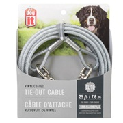 Dogit Tie-Out Cable - Clear - X-Large - 7.6 m (25 ft)