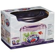 Marina Plastic Betta Kit - Purple - 1.89 L (0.5 U.S. gal)