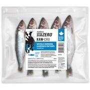 Nutrience Subzero Raw Bones for Dogs - Whole Herring - 454 g (1 lb) - 10 pack