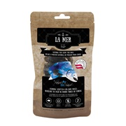 La Mer by Dogit Natural Fish Chew for Dogs - Herring Stuffed Cod Skin Rolls - Large - 70 g (2.5 oz)
