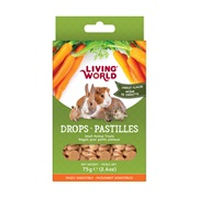 Living World Small Animal Drops - Carrot Flavour - 75 g (2.6 oz)