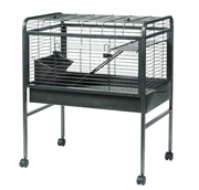 Living World Knock - Down Rabbit Cage - Small - Antique Silver