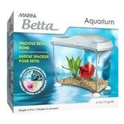 Marina Spacious Betta Home - White - 6.7 L (1.77 US Gal)