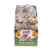 Living World Small Animal Cones - Fruit Flavour - 40 g (1.4 oz) - 10 pack