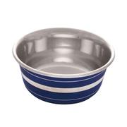 Dogit Stainless Steel Non-Skid Dog Bowl - Blue Striped - 350 ml (11.8 fl.oz.)