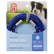 Dogit Pet Tether Dog Tie-out Cable - Blue - Medium - 4.6 m (15 ft)