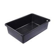 "Laguna Rectangular Heavy Duty Black Plastic Basin - 105 cm x 72 cm x 30 cm (42"" x 28.5"" x 12"")"
