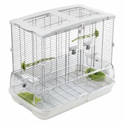 Vision Bird Cage for Medium Birds (M01) - Small Wire - Single Height - 62.5 x 39.5 x 53 cm (24.6 L x 15.6 W x 21 in H)