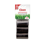 Dogit Waste Bags - 3 Rolls/20 Bags - Black - 29.5 x 23 cm (11.6 x 9 in)