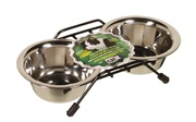 Catit Stainless Steel Double Cat Diner - 2 x 250 ml (8.4 oz) dishes