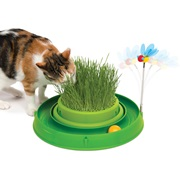 Catit Play 3 in 1 Circuit Ball Toy with Cat Grass