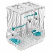 Vision Bird Cage for Small Birds (S01) - Small Wire - Single Height - 47.5 x 37 x 51 cm (18.7 L x 14.6 W x 20 in H)