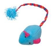 Cat Love Furry Frolics Cat Toy - Blue Plush Catnip Mouse