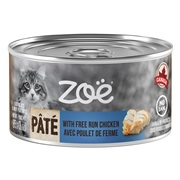 Zoë Pâté with Free Run Chicken for Cats – 85 g (3 oz)