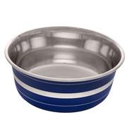 Dogit Stainless Steel Non-Skid Dog Bowl - Blue Striped - 1.15 L (39 fl.oz.)