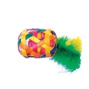 Cat Love Terra Toys Catnip Cat Toy - Cylinder with Feathers - Small