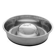 Dogit Stainless Steel Non-Skid Slow Feed Dog Bowl - 1.7 L (57.5 fl.oz.)