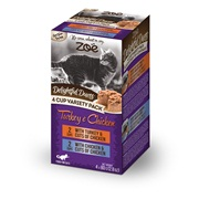 Zoë Delightful Duets Poultry Variety Pack - 4 cups - 80 g (2.8 oz)