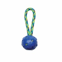 K9 Fitness by Zeus Ball Tug with TPR ball encasing tennis ball - 22.86 cm (9 in)