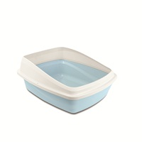 Catit Cat Pan with Removable Rim - Blue & Cool Grey - Medium - 38 x 48 x 22 cm (15 x 18.9 x 8.6 in)