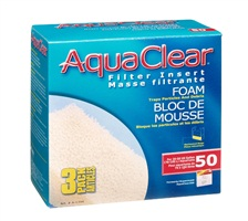 AquaClear 50 Foam Filter Insert - 3 pack