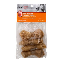 Dogit 100% Rawhide Knotted Bones - 11.4 cm (4.5 in) – 4 pack