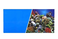 "Marina Double Sided Aquarium Background - Reef Aquarium/Solid Royal Blue - 45.7 cm x 7.6 m (18"" x 25 ft)"