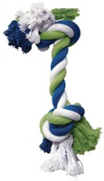 Dogit Dog Knotted Rope Toy - Multicoloured Rope Bone - Small
