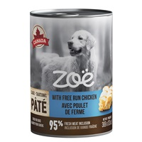 Zoë Pâté with Free Run Chicken for Dogs – 369 g (13 oz)
