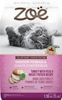 Zoë Cat Indoor Formula - Turkey with Peas & Russet Potato Recipe - 1.3 kg