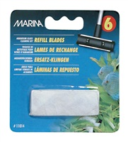 Marina Aquarium Glass Cleaning Refill Blades - 6 Pack