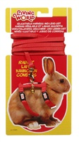Living World Adjustable Harness and Lead Set for Rabbits - Red - 1.2 m (4 ft)